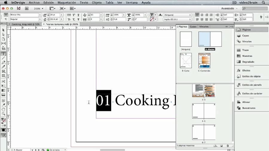 Cómo Numerar Páginas de un Documento en InDesign